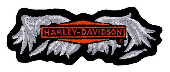 Harley-Davidson Embroidered Broken Wing Emblem Patch, MD Size EM330063 - Wisconsin Harley-Davidson