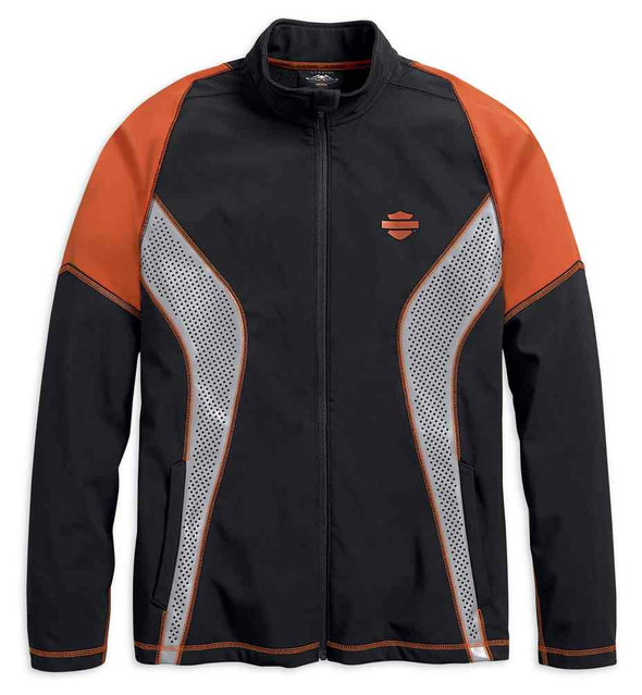 Harley-Davidson Men's Performance Soft Shell Colorblocked Jacket 99216-19VM - Wisconsin Harley-Davidson