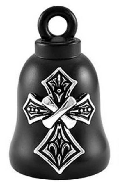 Harley-Davidson Tribal Cross Bar & Shield Ride Bell - Black Finish HRB075 - Wisconsin Harley-Davidson