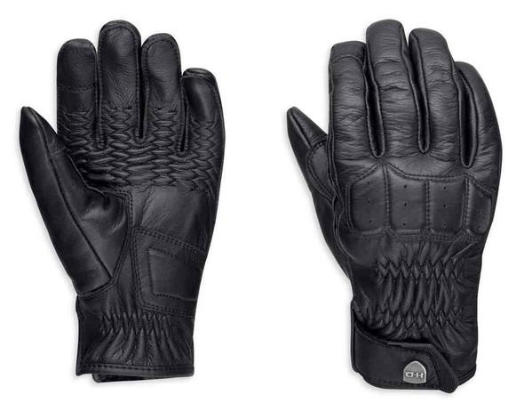 Harley-Davidson Women's Fairhaven Touchscreen Leather Gloves, Black 98328-19VW - Wisconsin Harley-Davidson