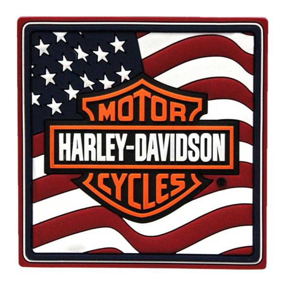 Harley-Davidson American Flag Bar & Shield Logo Mile-Tile PVC Magnet 8003593 - Wisconsin Harley-Davidson