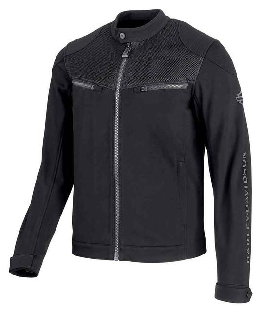 Harley-Davidson Men's 3D Mesh Accent Casual Slim Fit Jacket, Black 98419-19VM - Wisconsin Harley-Davidson