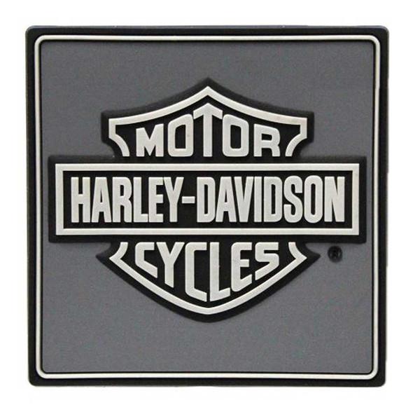 Harley-Davidson Gray & Black Bar & Shield Logo Mile-Tile Rubber Magnet 8003586 - Wisconsin Harley-Davidson