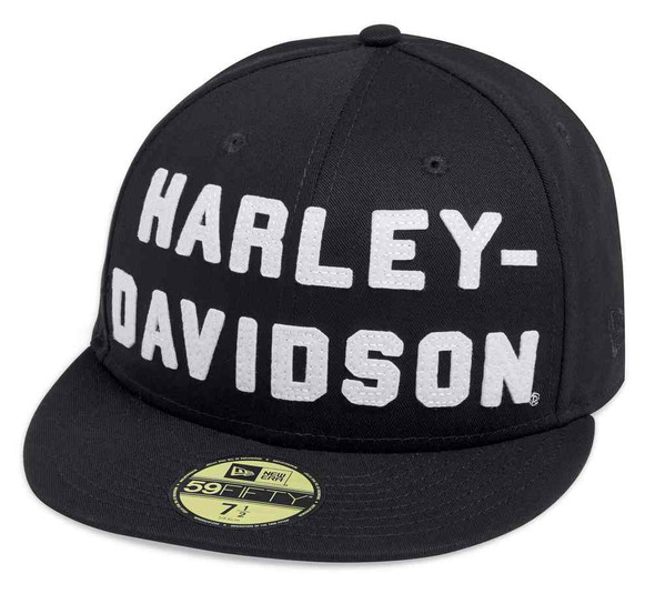 Harley-Davidson Men's Felt Letter 59FIFTY Baseball Cap, Black 99467-19VM - Wisconsin Harley-Davidson