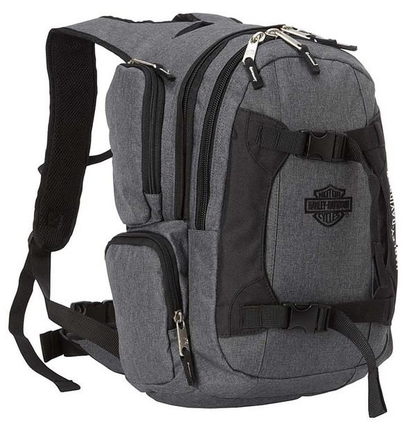 Harley-Davidson Bar & Shield Equipt Multi-Functional Backpack 99419-GRAY/BLACK - Wisconsin Harley-Davidson