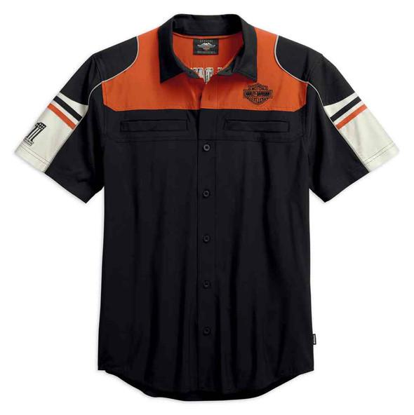 Harley-Davidson Men's Performance Colorblock Shirt w/ Coolcore Tech 99189-19VM - Wisconsin Harley-Davidson