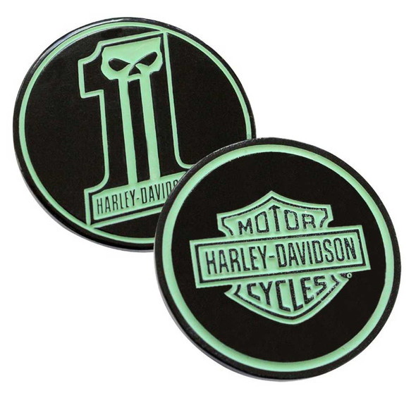 Harley-Davidson Glow in the Dark #1 Skull Challenge Coin, 1.75 in. 8003555 - Wisconsin Harley-Davidson