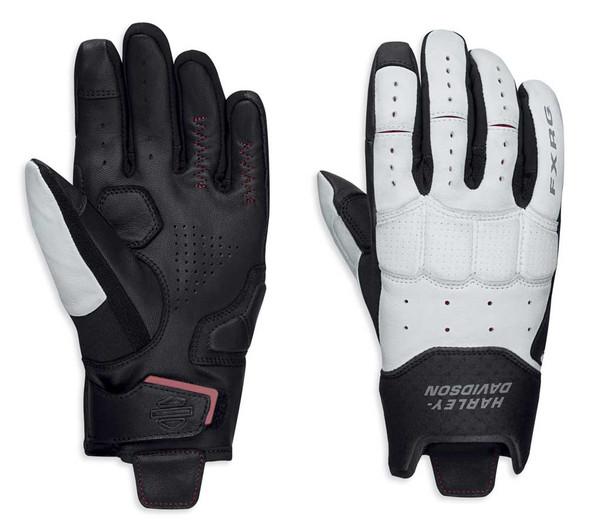 Harley-Davidson Women's FXRG Lightweight Full-Finger Gloves, White 98331-19VW - Wisconsin Harley-Davidson