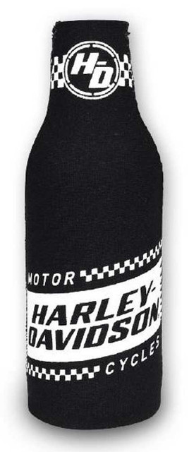 Harley-Davidson Ignition Neoprene Zippered Bottle Wrap, Black & White BZ33488 - Wisconsin Harley-Davidson