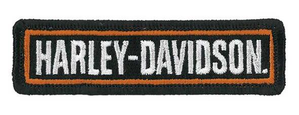 Harley-Davidson Embroidered H-D Script Emblem Patch, 3.5 x 1 in. EM516661 - Wisconsin Harley-Davidson