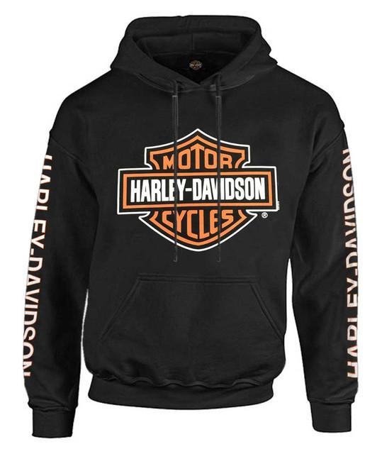 Harley-Davidson Men's Bar & Shield Logo Pullover Hoodie - Black 30297503 - Wisconsin Harley-Davidson