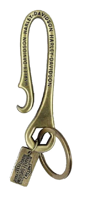 Harley-Davidson Highest Performance Keychain, Antiqued Brass Plating KY33626 - Wisconsin Harley-Davidson