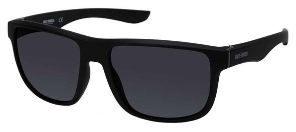 Harley-Davidson Mens Plastic Sport Sunglasses, Black Frame & Smoke Mirror Lenses - Wisconsin Harley-Davidson