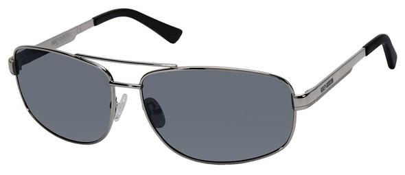 Harley-Davidson Mens Polarized Sport Sunglasses, Silver Frame/Silver Mirror Lens - Wisconsin Harley-Davidson