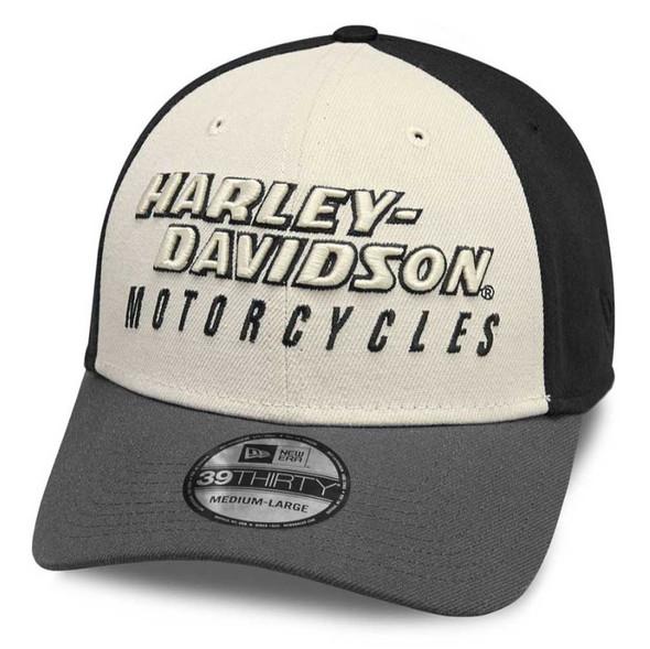 Harley-Davidson Men's Colorblock 39THIRTY Baseball Cap - Stretch Fit 99460-19VM - Wisconsin Harley-Davidson