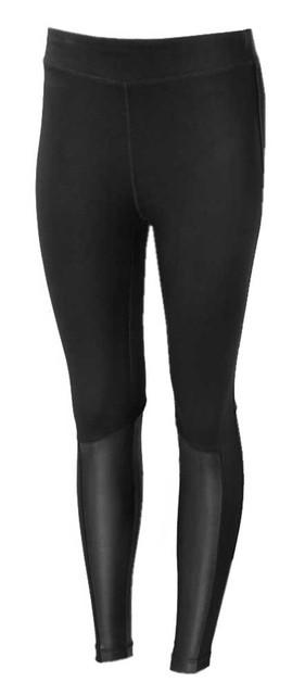 Harley-Davidson Women's Leather Accent Mid-Rise Leggings - Black 99128-19VW - Wisconsin Harley-Davidson