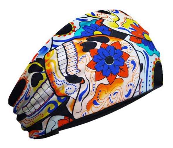 That's A Wrap Women's Sugar Skull Garden Cotton Jersey Knotty Band KB2942 - Wisconsin Harley-Davidson