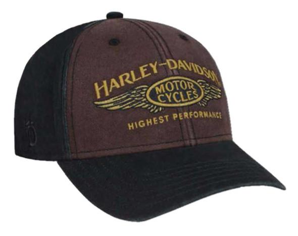 Harley-Davidson Men's Highest Performance Stone Washed Baseball Cap BCC33668 - Wisconsin Harley-Davidson