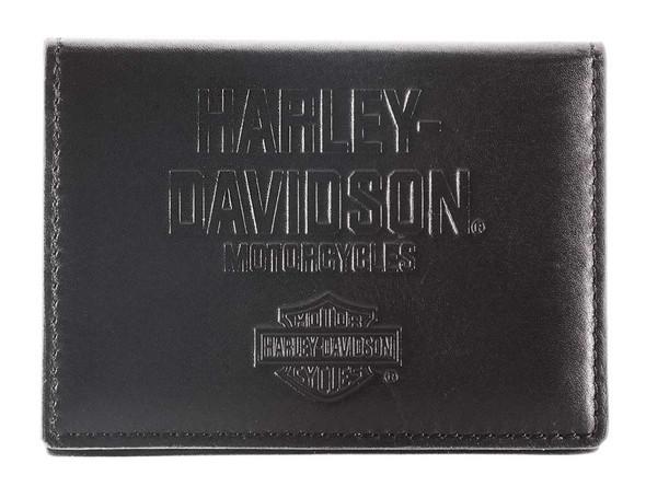 Harley-Davidson Men's Legendary Bi-Fold Leather Card Case w/ RFID HDMWA11651 - Wisconsin Harley-Davidson