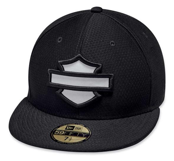Harley-Davidson Men's Hex Mesh 59FIFTY Reflective Baseball Cap, Black 97845-19VM - Wisconsin Harley-Davidson