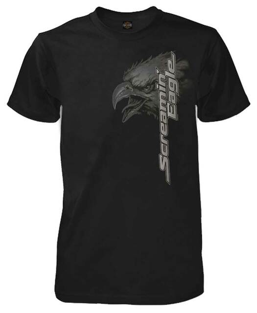 Harley-Davidson Men's Screamin Up Short Sleeve Crew-Neck T-Shirt, Black R003404 - Wisconsin Harley-Davidson