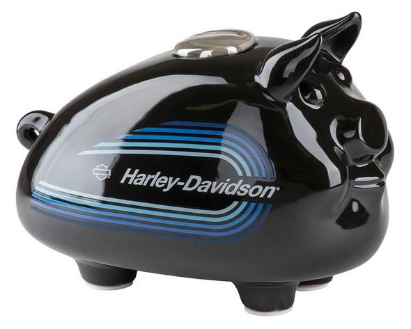 Harley-Davidson 2018 Tank Graphic Medium Ceramic Hog Bank - Black HDX-99141 - Wisconsin Harley-Davidson