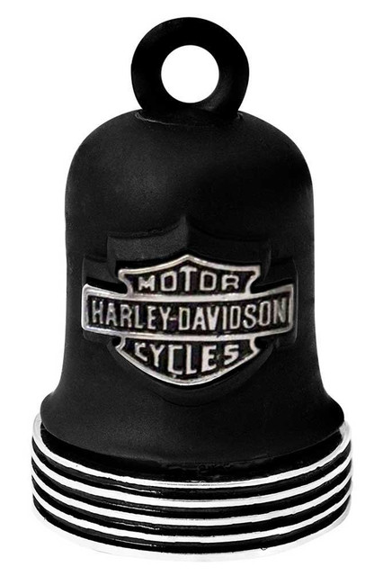 Harley-Davidson Bar & Shield Chrome Edge Ride Bell - Black Finish HRB098 - Wisconsin Harley-Davidson
