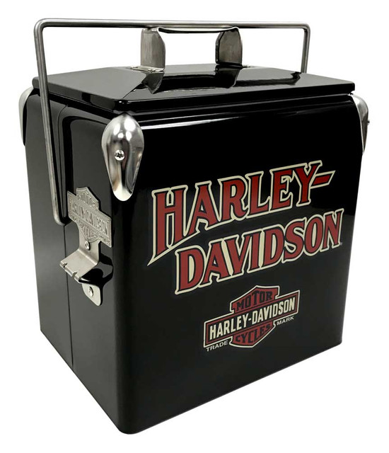 Harley-Davidson Bar & Shield Retro Metal Cooler - 13 liter, Black HDX-98504 - Wisconsin Harley-Davidson