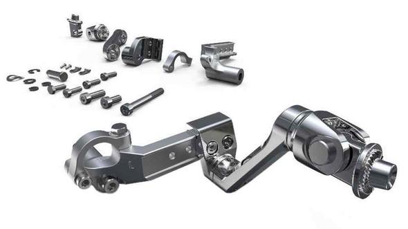 Ciro Goldstrike 3-Way Adjustable Highway Peg Mounts, Stainless Steel 60300-60320 - Wisconsin Harley-Davidson