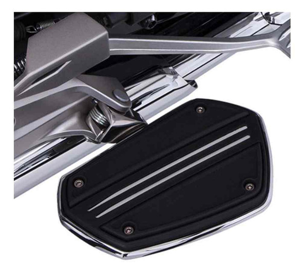 Ciro Goldstrike Twin Rail Floorboards w/ Driver Adapter, Gold Wing 68201-68221 - Wisconsin Harley-Davidson