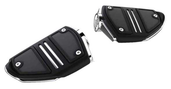 Ciro Goldstrike Twin Rail Footrests Without Driver Adapter, 68400-68420 - Wisconsin Harley-Davidson