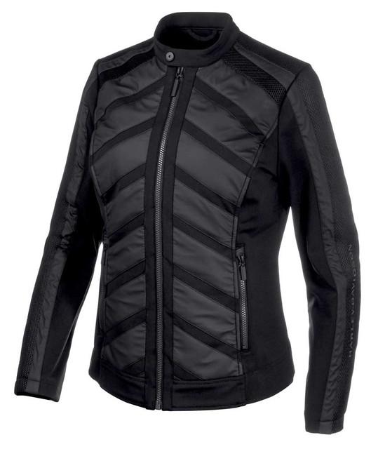 Harley-Davidson Women's Mixed Media Mesh Casual Jacket - Black 97533-19VW - Wisconsin Harley-Davidson