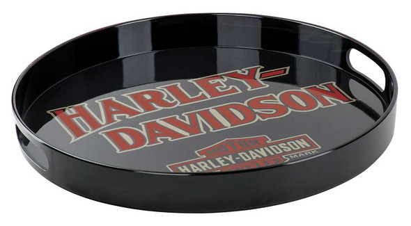 Harley-Davidson B&S Melamine Serving Tray w/ Cut-Out Handles, Black HDX-98501 - Wisconsin Harley-Davidson