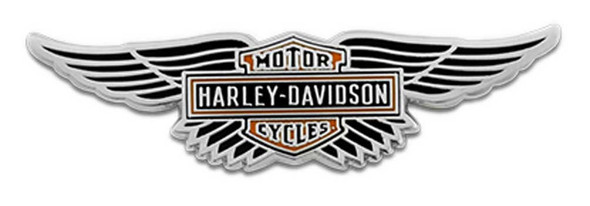 Harley-Davidson 1.75 in. Winged Bar & Shield Logo Pin, Shiny Finish 8008895 - Wisconsin Harley-Davidson
