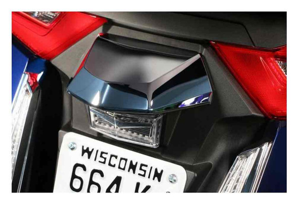 Ciro Goldstrike TWINART License Plate Light Lid - Chrome, Gold Wing Models 78300 - Wisconsin Harley-Davidson