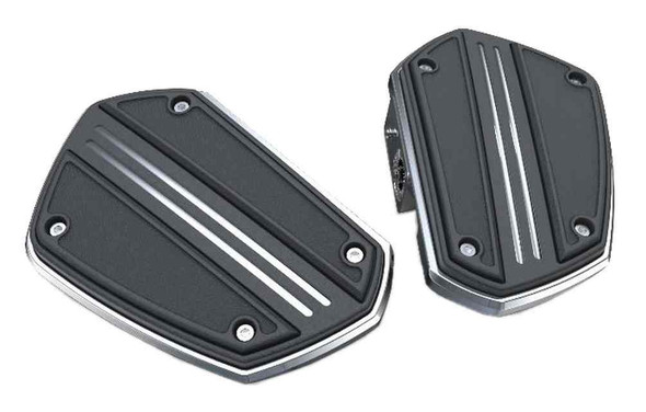 Ciro Goldstrike Twin Rail Floorboards Without Driver Adapter - Chrome 68301 - Wisconsin Harley-Davidson