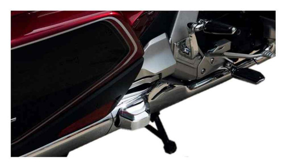 Ciro Goldstrike TWINART Saddlebag Guard Covers - Chrome, Gold Wing Models 78320 - Wisconsin Harley-Davidson