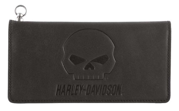 Harley-Davidson Men's Outsider Trucker Bi-Fold Leather Wallet w/ RFID HDMWA11648 - Wisconsin Harley-Davidson