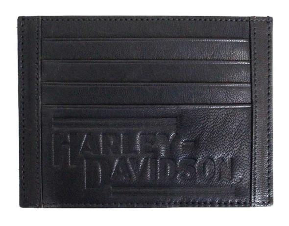 Harley-Davidson Men's Currency & Coin Front Pocket Leather Wallet IM2163L-BLACK - Wisconsin Harley-Davidson