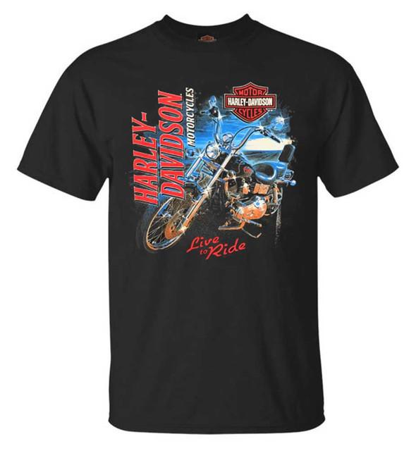 Harley-Davidson Men's Bike Shine Short Sleeve Crew Neck T-Shirt - Black - Wisconsin Harley-Davidson