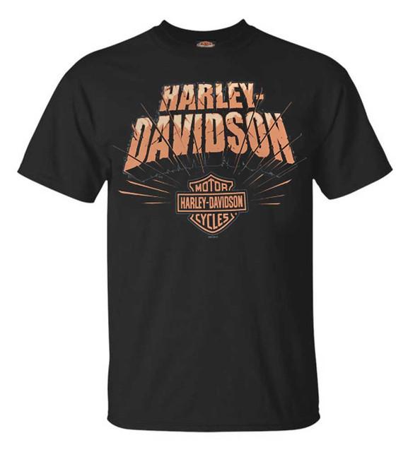 Harley-Davidson Men's H-D Rock Splitter Short Sleeve T-Shirt - Solid Black - Wisconsin Harley-Davidson