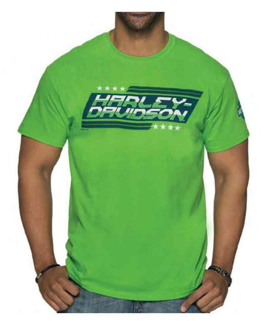Harley-Davidson Men's Legitimacy Crew Neck Short Sleeve Tee - Electric Green - Wisconsin Harley-Davidson