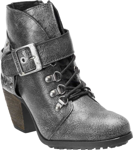 Harley-Davidson Women's Ashland Classically Styled Grey Casual Booties D84491 - Wisconsin Harley-Davidson