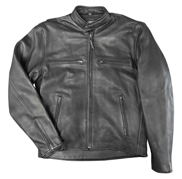 Redline Men's Stretch Sides Cowhide Leather Motorcycle Jacket - Black M-280 - Wisconsin Harley-Davidson