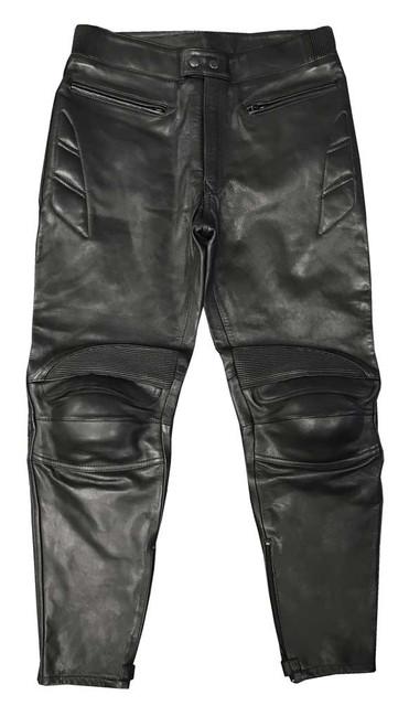 Redline Men's Protective Riding Genuine Leather Motorcycle Pants - Black M-3513 - Wisconsin Harley-Davidson