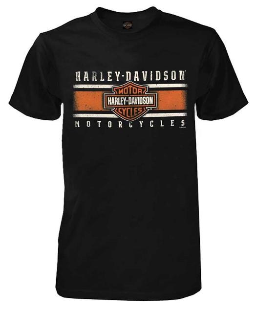 Harley-Davidson Men's Custom Iconic B&S Short Sleeve Crew Neck Tee - Black - Wisconsin Harley-Davidson