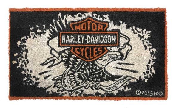 Harley-Davidson Legendary Eagle B&S Durable Coir Mat, 16 x 28 - Black 2RM4906 - Wisconsin Harley-Davidson