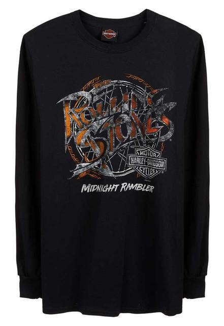 Harley-Davidson Men's Rolling Stones Midnight Rambler Long Sleeve Shirt - Black - Wisconsin Harley-Davidson