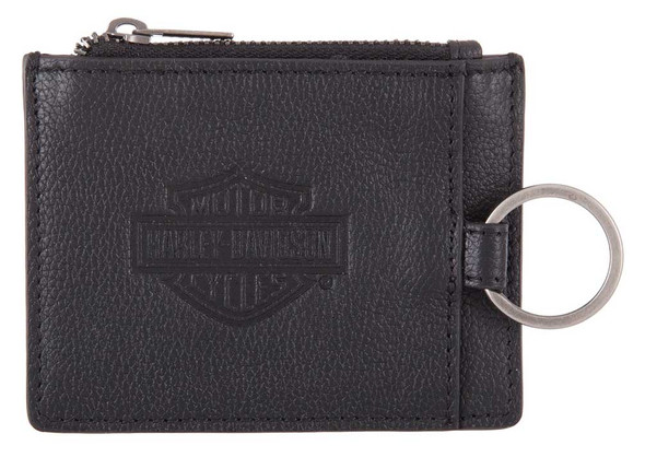 Harley-Davidson Men's Bar & Shield Enzo Slim Wallet w/ RFID - Black HDMWA11524 - Wisconsin Harley-Davidson