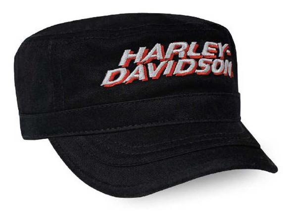 Harley-Davidson Men's Embroidered H-D Painter's Cap - Black & Orange PC03564 - Wisconsin Harley-Davidson